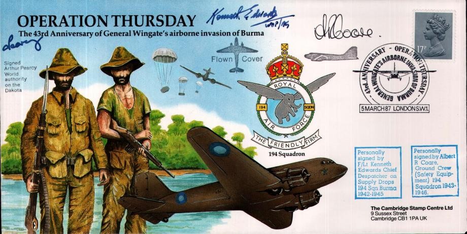 Operation Thursday cover Sgd K Edwards A R Coare and A Pearcy