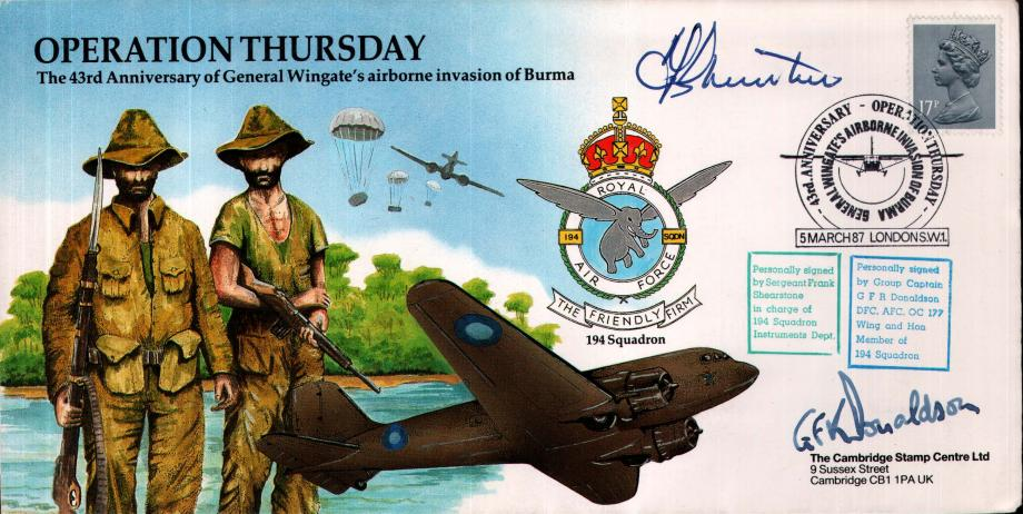 Operation Thursday cover Sgd F Shearstone and G F R Donaldson