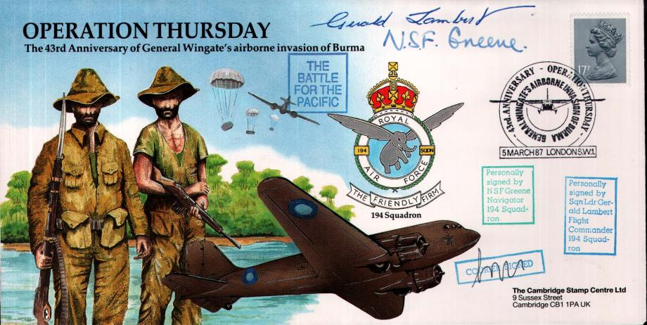 Operation Thursday cover Sgd N S F Greene and G Lambert