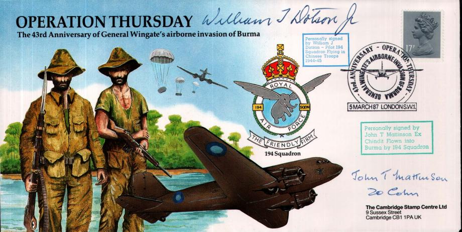 Operation Thursday cover Sgd W J Dotson and J T Mattinson