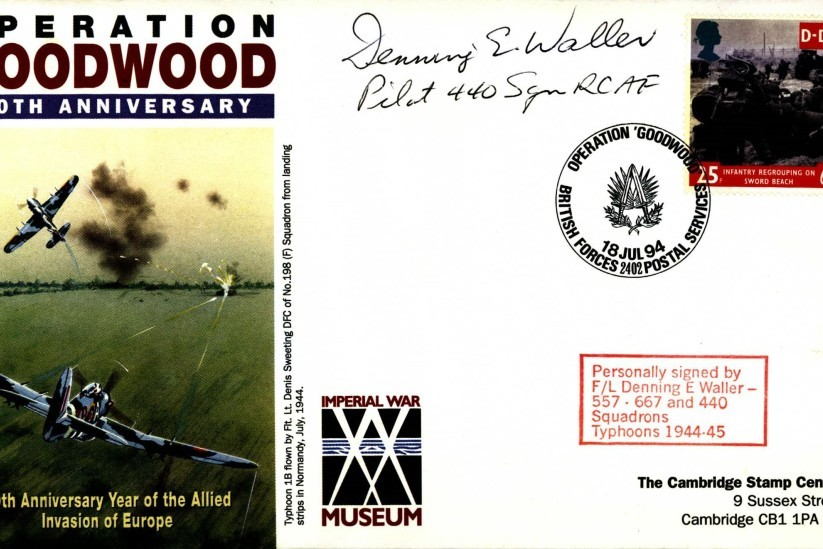 Typhoon cover Sgd D E Waller RCAF of 557 Squadron, 667 Squadron and 440 Squadron