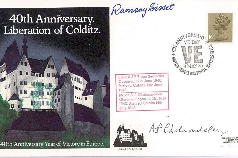 Colditz Cover Signed A Bissett And A Cholmondeley