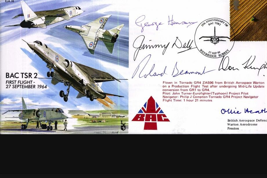 BAC TSR 2 Sgd R Beamont and 4 others