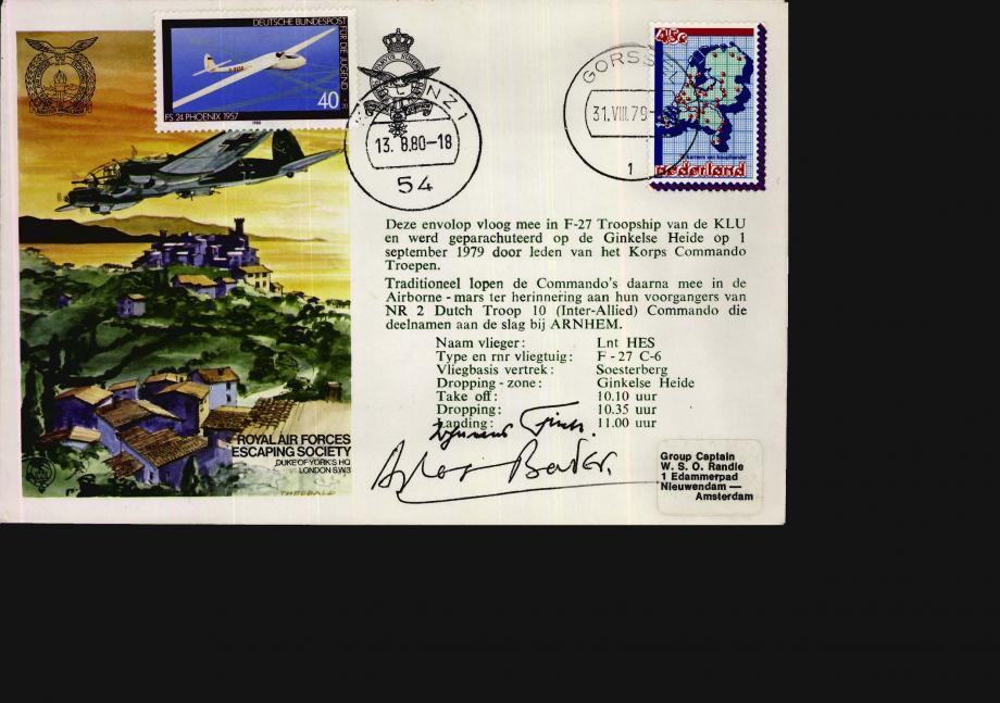 Terug Naar Nederland cover Sgd Douglas Bader and Gen J Fink of the Luftwaffe