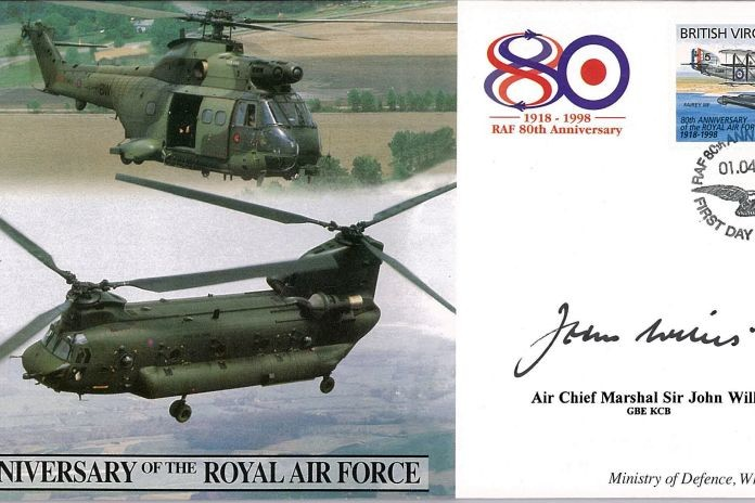 80th Anniversary Of The RAF Cover Signed Sir J Willis