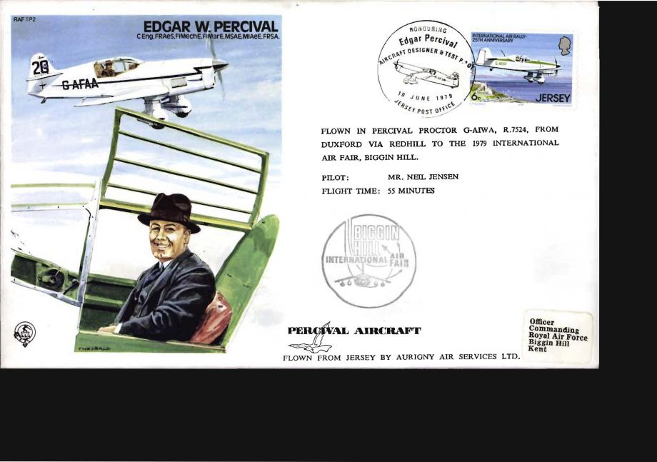 Edgar W Percival Test Pilot cover